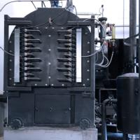Caldera Vapor - Sistema de limpieza del intercambiador automática.