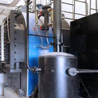 Caldera Vapor - Estructura de acero de alta temperatura.